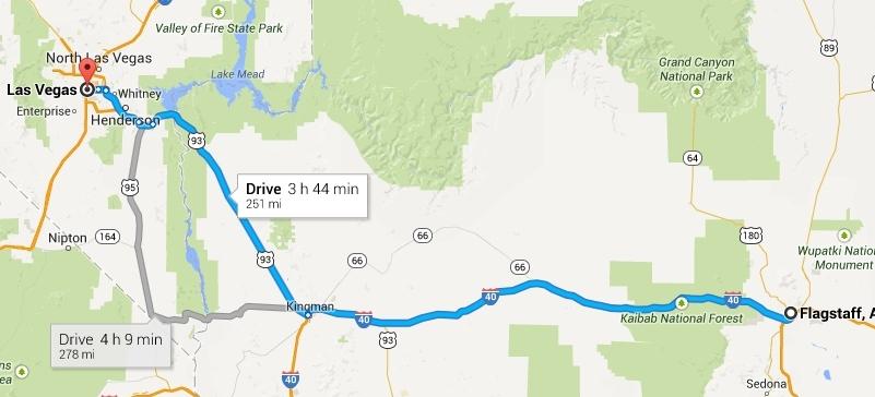 Road Trip Day 5 Flagstaff AZ  Las Vegas NV  Travel2X2