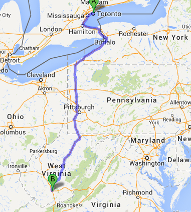 New York To Florida Drive >> Road Trip Day 1 Toronto On Beckley Wv Travel2x2