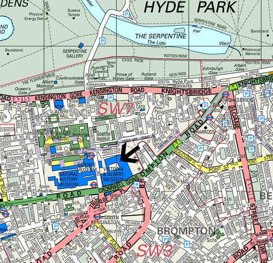 London Map South Kensington  London Map